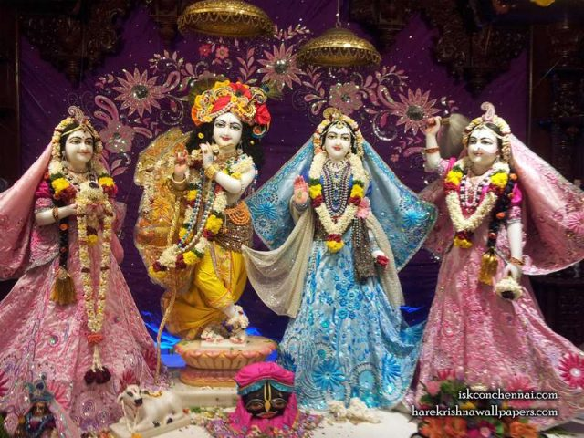 Sri Sri Radha Krishna Lalita Vishakha Wallpaper (002)