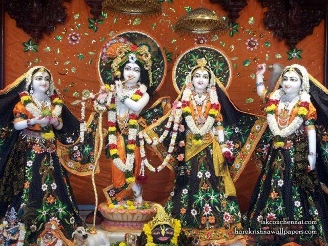 Sri Sri Radha Krishna Lalita Vishakha Wallpaper (003)