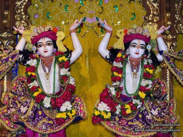 Sri Sri Gaura Nitai Close up Wallpaper (002)