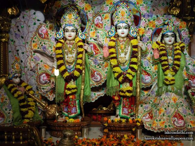 Sri Sri Sita Rama Laxman Hanuman Wallpaper (003)