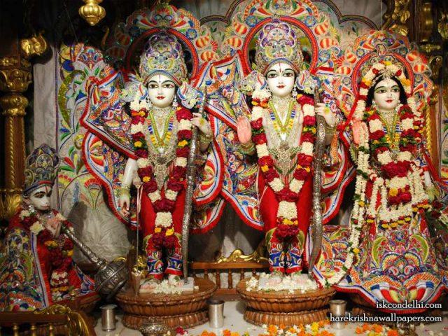 Sri Sri Sita Rama Laxman Hanuman Wallpaper (009)