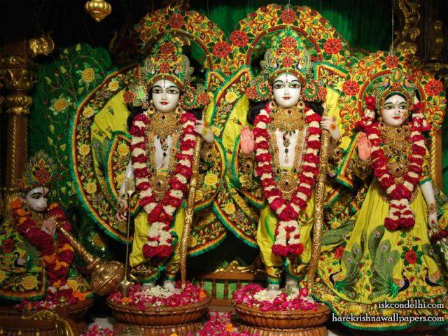 Sri Sri Sita Rama Laxman Hanuman Wallpaper (012)