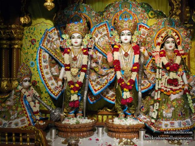 Sri Sri Sita Rama Laxman Hanuman Wallpaper (014)