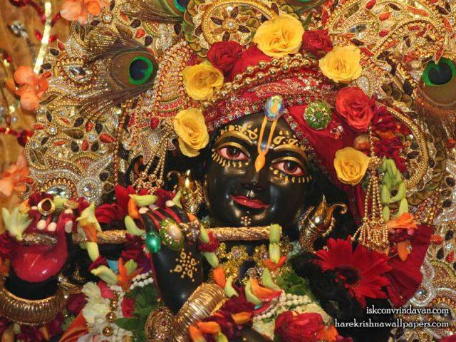 Sri Shyamsundar Close up Wallpaper (012)