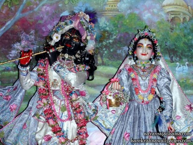 Sri Sri Radha Shyamsundar Close up Wallpaper (004)