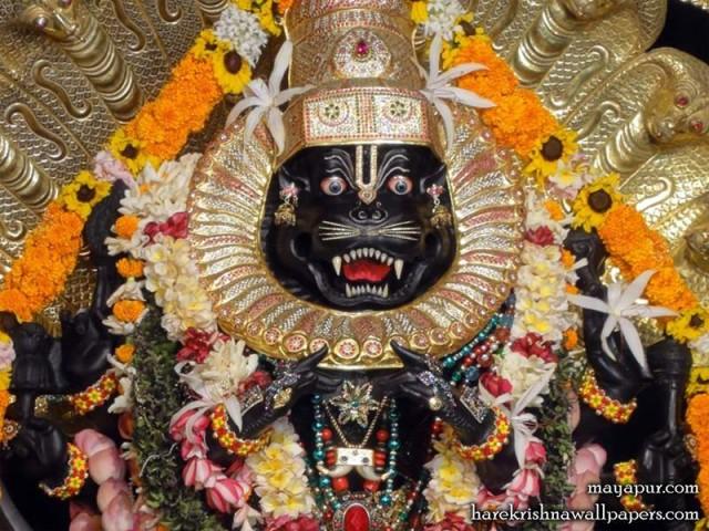 Sri Narasimha Deva Close up Wallpaper (005)