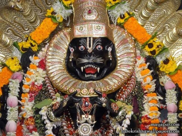 Sri Narasimha Deva Close up Wallpaper (007)