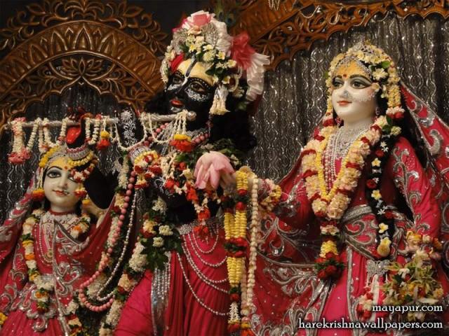 Sri Sri Radha Madhava Close up Wallpaper (008)