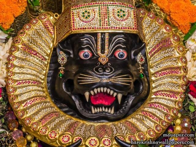 Sri Narasimha Deva Close up Wallpaper (010)