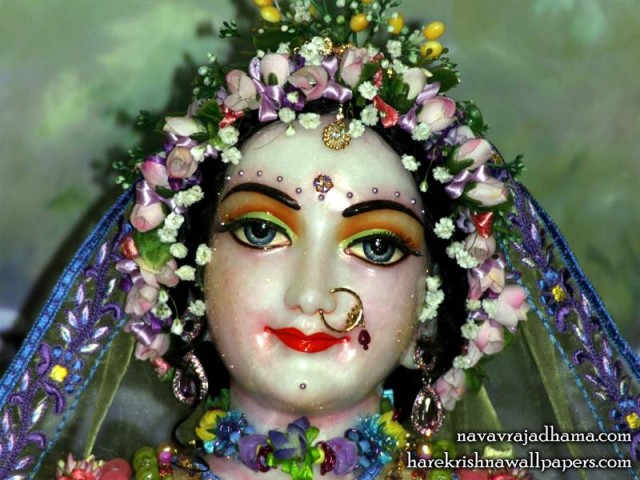 Sri Radha Close up Wallpaper (012)