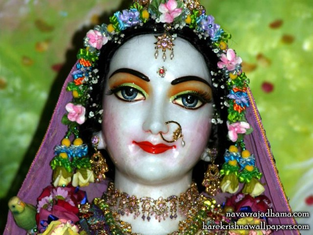 Sri Radha Close up Wallpaper (019)
