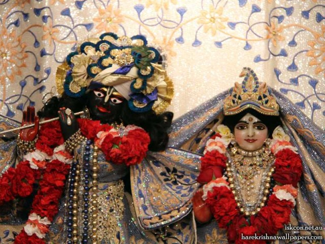 Sri Sri Radha Vallabh Close up Wallpaper (002)