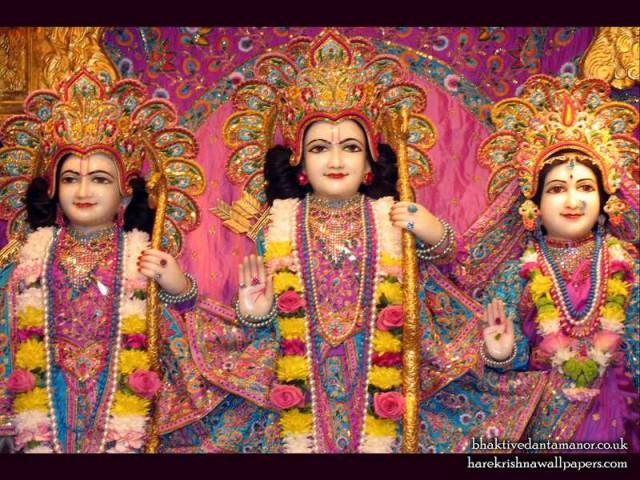 Sri Sri Sita Rama Laxman Close up Wallpaper (002)