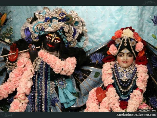 Sri Sri Radha Vallabh Close up Wallpaper (003)