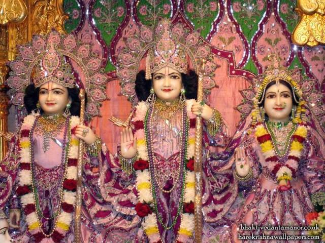 Sri Sri Sita Rama Laxman Close up Wallpaper (003)