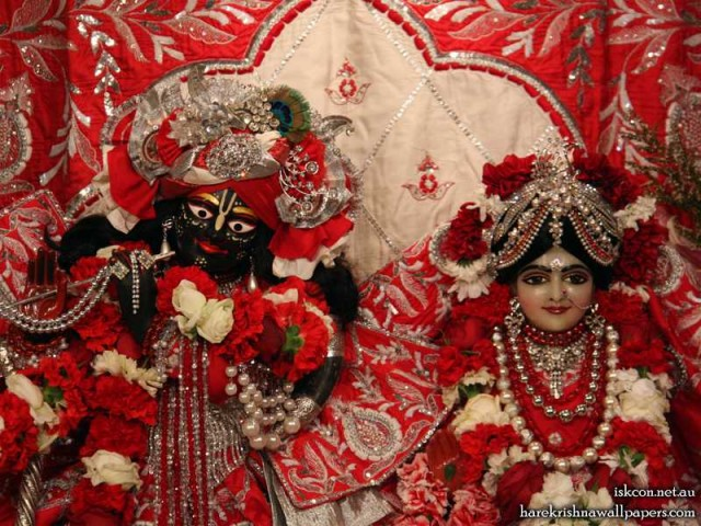Sri Sri Radha Vallabh Close up Wallpaper (005)