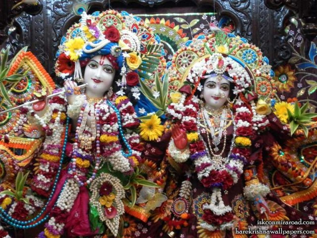 Sri Sri Radha Giridhari Close up Wallpaper (006)