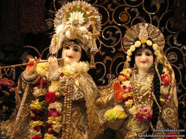 Sri Sri Rukmini Dwarkadhish Close up Wallpaper (006)
