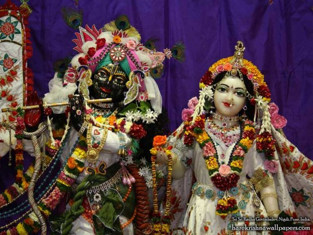 Sri Sri Radha Govind Close up Wallpaper (007)