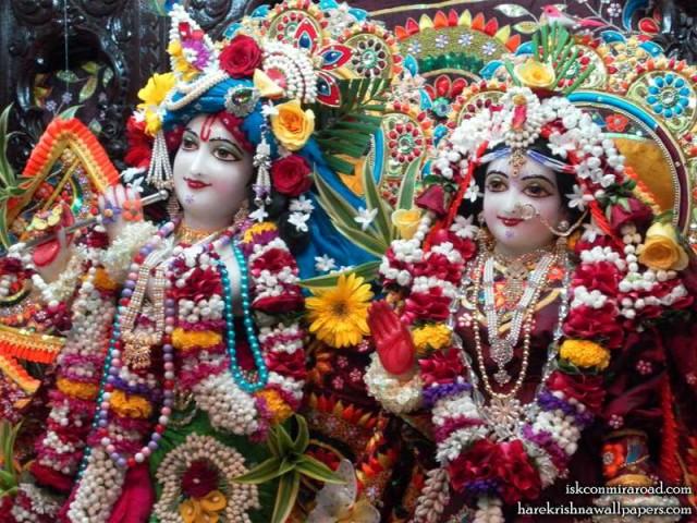 Sri Sri Radha Giridhari Close up Wallpaper (008)