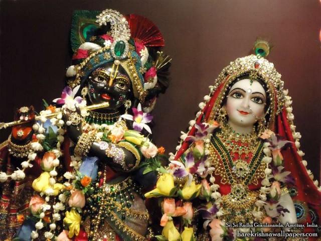 Sri Sri Radha Gokulananda Close up Wallpaper (008)