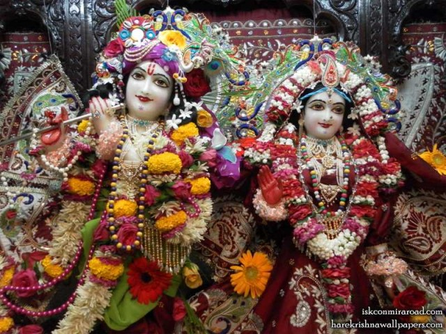 Sri Sri Radha Giridhari Close up Wallpaper (009)