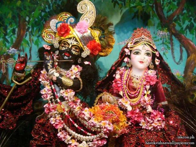Sri Sri Radha Madhava Close up Wallpaper (009)
