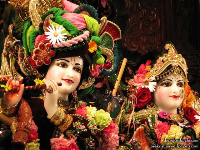 Sri Sri Rukmini Dwarkadhish Close up Wallpaper (009)