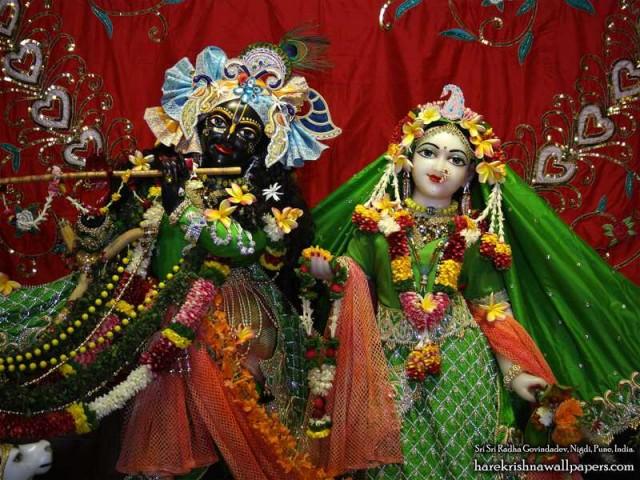 Sri Sri Radha Govind Close up Wallpaper (011)