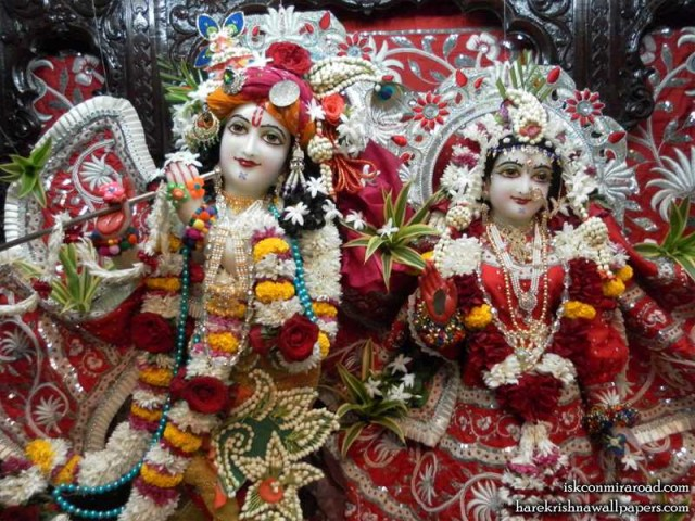Sri Sri Radha Giridhari Close up Wallpaper (016)