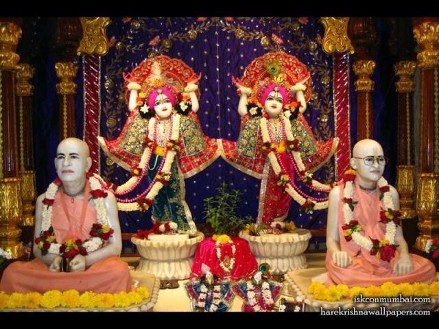 Sri Sri Gaura Nitai with Acharyas Wallpaper (004)
