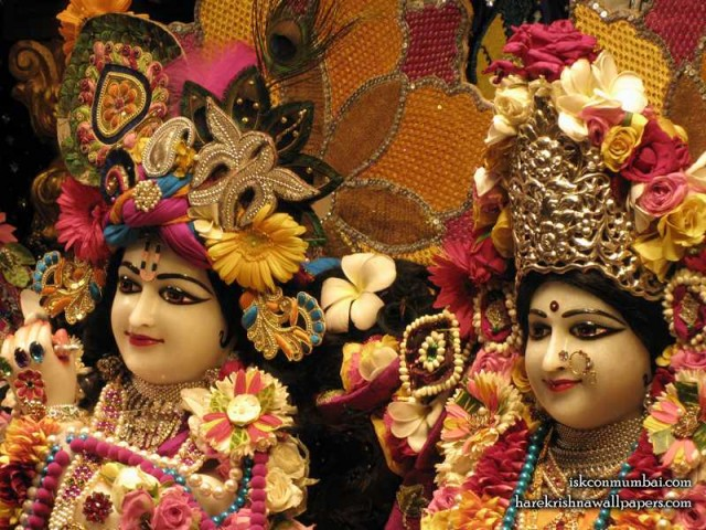 Sri Sri Radha Rasabihari Close up Wallpaper (011)