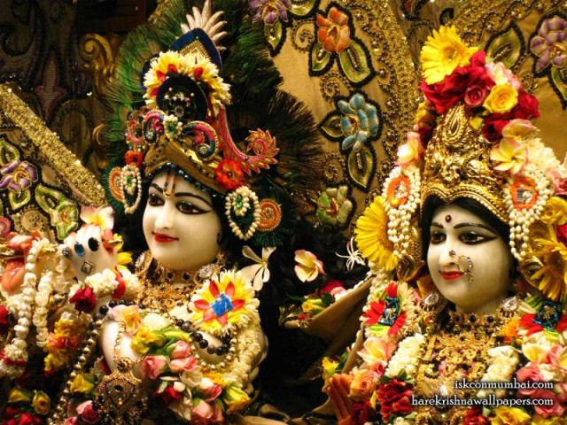 Sri Sri Radha Rasabihari Close up Wallpaper (014)
