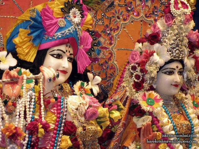Sri Sri Radha Rasabihari Close up Wallpaper (024)