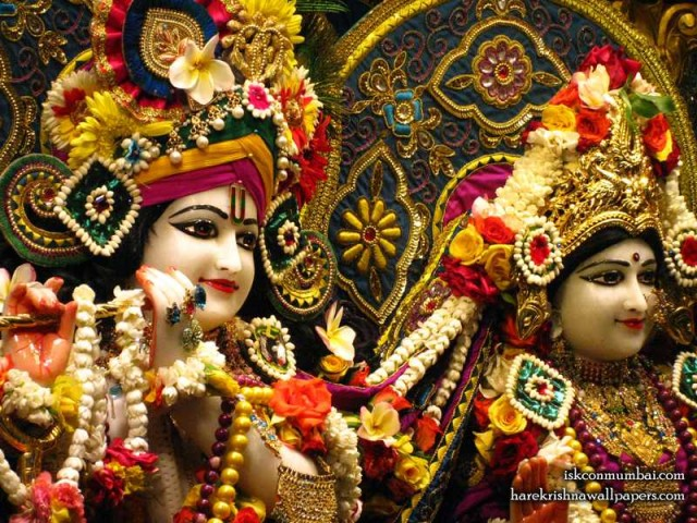 Sri Sri Radha Rasabihari Close up Wallpaper (027)