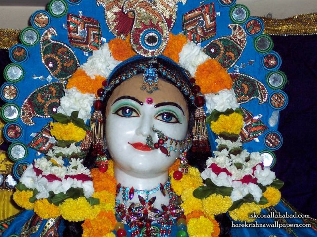 Sri Radha Close up Wallpaper (002)