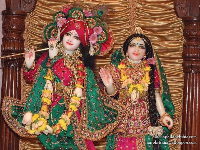 Sri Sri Radha Krishna Close up Wallpaper (003)
