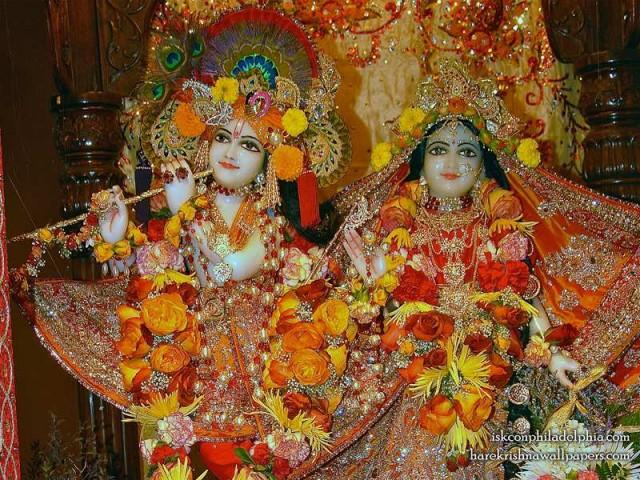 Sri Sri Radha Krishna Close up Wallpaper (007)