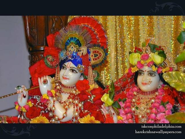 Sri Sri Radha Krishna Close up Wallpaper (009)