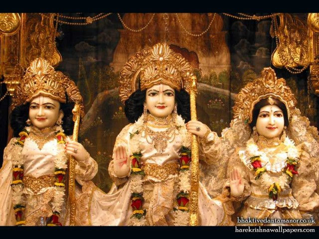 Sri Sri Sita Rama Laxman Close up Wallpaper (001)