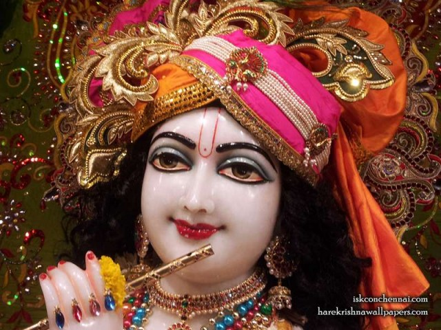 Sri Krishna Close up Wallpaper (021)