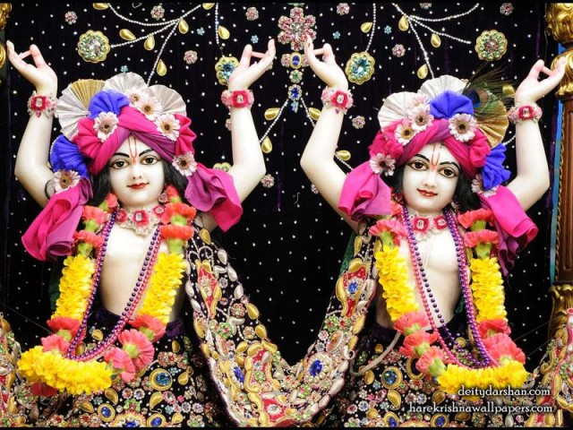 Sri Sri Nitai Gaurachandra Close up Wallpaper (021)