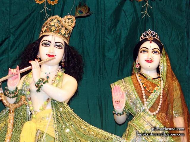 Sri Sri Radha Krishna Close up Wallpaper (013)