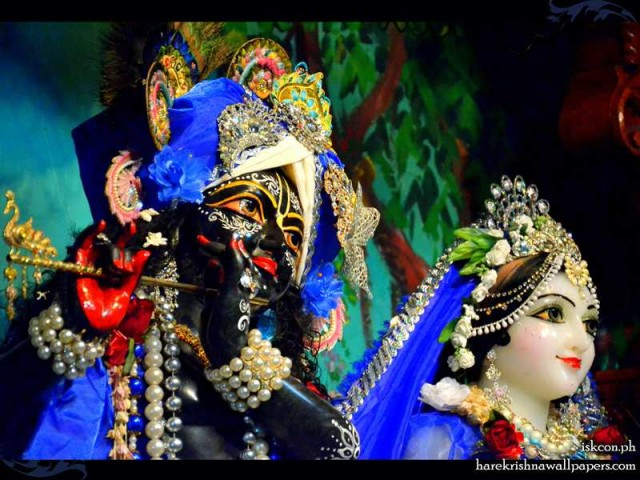 Sri Sri Radha Madhava Close up Wallpaper (015)