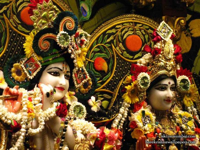 Sri Sri Radha Rasabihari Close up Wallpaper (030)