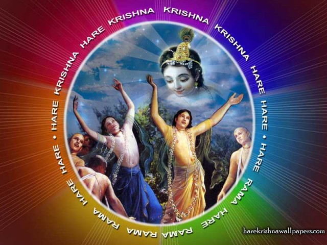 Chant Hare Krishna Mahamantra Wallpaper (005)