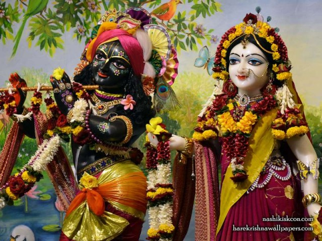 Sri Sri Radha Madan Gopal Close up Wallpaper (005)