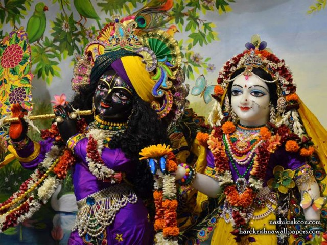 Sri Sri Radha Madan Gopal Close up Wallpaper (006)
