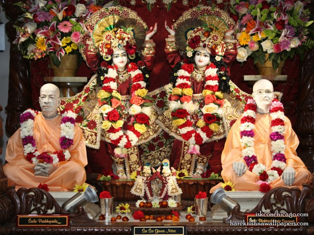 Sri Sri Gaura Nitai with Acharyas Wallpaper (005)