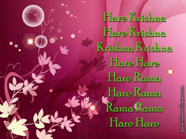 Chant Hare Krishna Mahamantra Wallpaper (017)